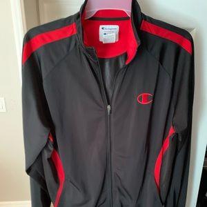 Vintage Champion Full Zip jacket red and black